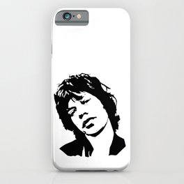 """BEAUTIFUL GIFTS OF Sir Michael Philip """"Mick"""" JaggerBlack White Face, Music, Art iPhone Case"""