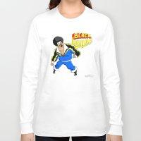 snl Long Sleeve T-shirts featuring Black Lightning (Sinbad Version)  by Cesar Cueva