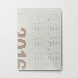 2016 Calendar | Earth Metal Print