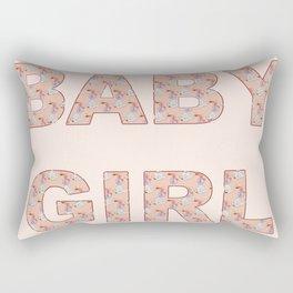 Baby Girl Pastel Pink Celebration Rectangular Pillow