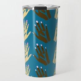 All blood is the same - blue Travel Mug