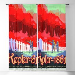 Kepler-186f - NASA Space Travel Poster (Alt) Blackout Curtain