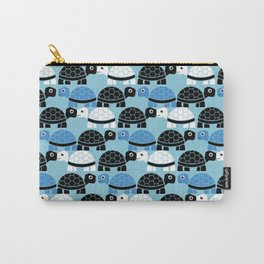 Turtle Pattern (Blue/Black/White) Carry-All Pouch