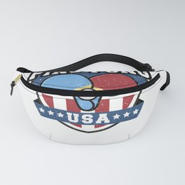 Table Tennis Vintage Ping Pong USA Table Sports Gift Fanny Pack