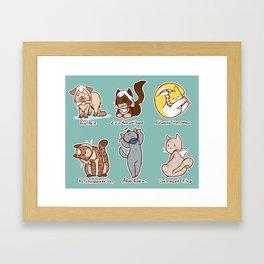 Catssassins Framed Art Print