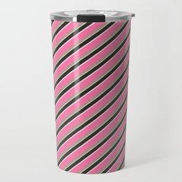 Pink Roses in Anzures 4 Stripes 2D Travel Mug