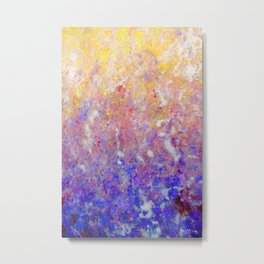 Abstract Art in Sunset Palette Metal Print