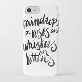 My Favourite Things - Raindrops iPhone Case