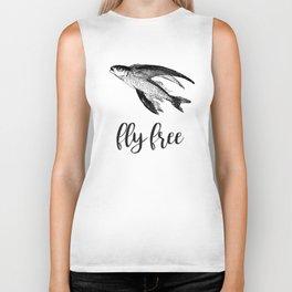 Fly Free Fish Biker Tank