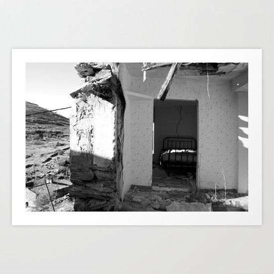 The house that collapsed.  Art Print