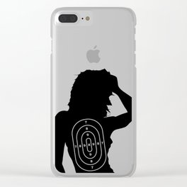 Female Human Shape Target Clear iPhone Case