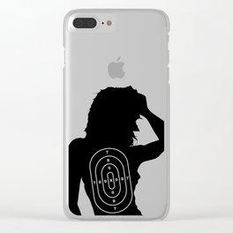 Female Human Shape Target Clear iPhone Case