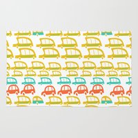 cars Area & Throw Rugs featuring cars by mummysam
