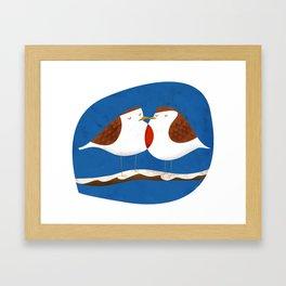 Robin X-mas Framed Art Print