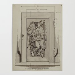 Iron Doorway to Tomb - Thomas Byrne - Vintage Architecture Poster