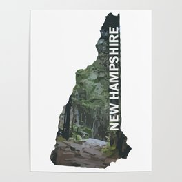 State of New Hampshire - Forest Trail Poster