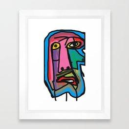 Melting Face Framed Art Print