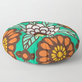 Betty Flowers Floor Pillow