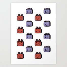 Animals Pattern Art Print