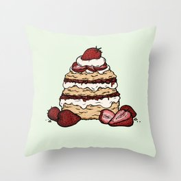S is for Shortcake Throw Pillow