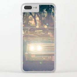 Vintage car At Dusk Clear iPhone Case