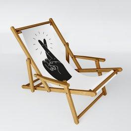 Fingers Crossed Sling Chair