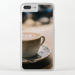 Cappuccion in the Window Clear iPhone Case