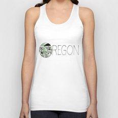 Oregon Mushroom Design Unisex Tank Top