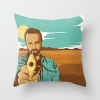 jesse pinkman Throw Pillows featuring BREAKING BAD | JESSE PINKMAN by Daniel Mackey
