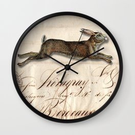 The French Rabbit Wall Clock