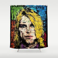 kurt rahn Shower Curtains featuring Nevermind Kurt  by brett66
