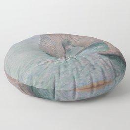 Claude Monet - Manne-Porte, Étretat.jpg Floor Pillow
