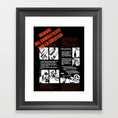 The Freedom Fighters Manual (for dark T's) Framed Art Print