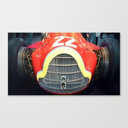 The Woman in Red Canvas Print