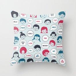 Kids Speak Throw Pillow