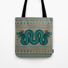Double-headed serpent on canvas Tote Bag