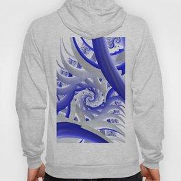 Spiral blue/white Hoody