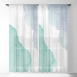 Watercolor Drops Sheer Curtain