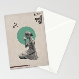 Coffee is always a good idea Stationery Cards