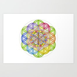 Hidden Jewel - The Rainbow Tribe Collection Art Print