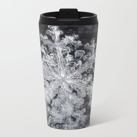 Snowflake Closeup #3 Metal Travel Mug