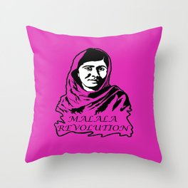 Malala Revolution Throw Pillow
