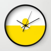 digimon Wall Clocks featuring digital pineapple by SIDE PROJECT