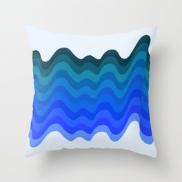 Retro Ripple Sea Wave Throw Pillow