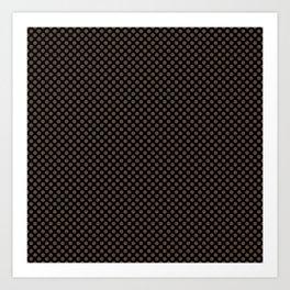 Black and Carafe Polka Dots Art Print