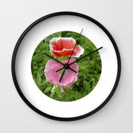 two poppys bloom IV Wall Clock