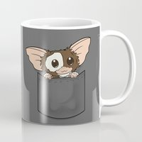 gizmo Mugs featuring Pocket Gizmo (Mogwai) by Li.Ro.Vi