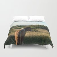 pony Duvet Covers featuring pony by catrinaevans
