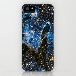 Pillars Of Creation Nebula, Galaxy Background, Universe Large Print, Space Wall Art Decor iPhone Case