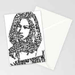 Kanji Calligraphy Art :woman's face #31 Stationery Cards